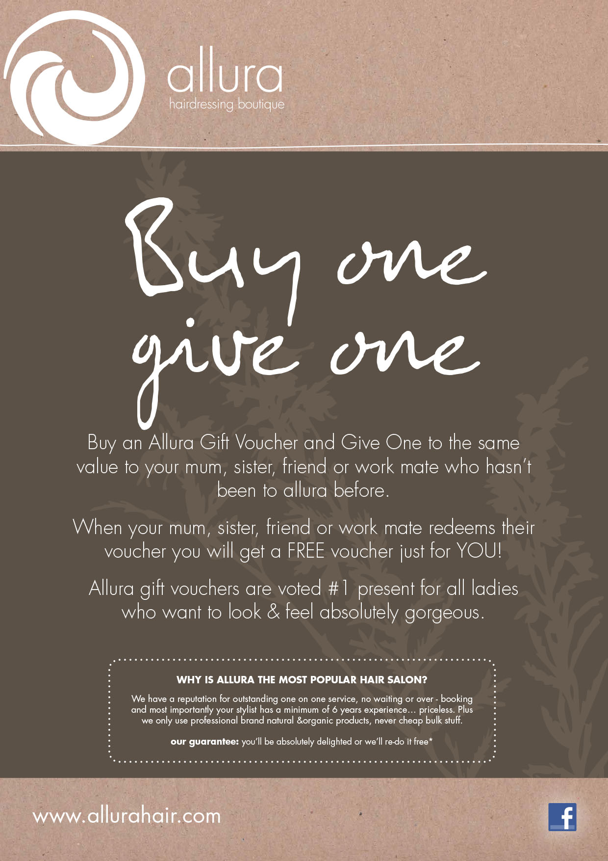 Buy One Give One-Allura Hairdressing Boutique