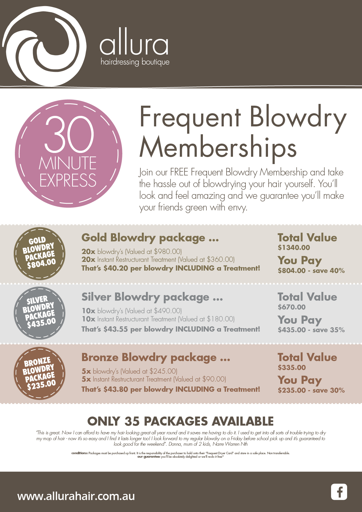 Frequent Blowdry-Allura Hairdressing Boutique