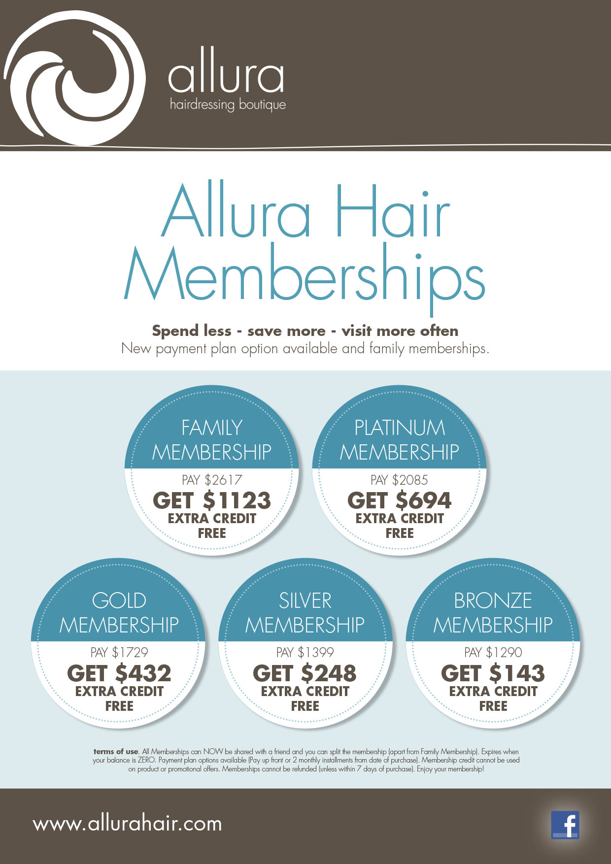 Memberships-Allura Hairdressing Boutique